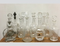 Bottiglie varie in vetro per liquore